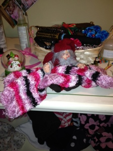Elf with my new cosy socks