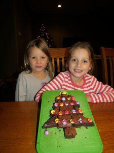 Chocolate brownies Christmas tree