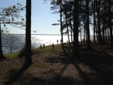Lake Livingston in thecold