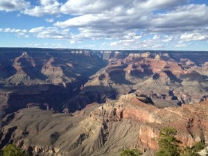 First view of the Grand Canyon