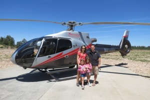 Our helicopter trip